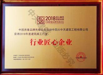 2018年度行业匠心企业